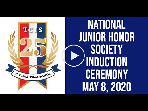 Embedded thumbnail for National Junior Honor Society Induction 2020